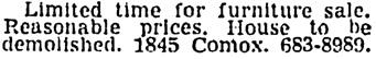 Vancouver Sun, March 7, 1964, page 35, column 8.
