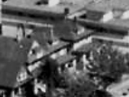 1851 Comox Street and 1845 Comox Street; 1962; detail from West End from the air, Vancouver City Archives; Air P96; https://searcharchives.vancouver.ca/west-end-from-air.