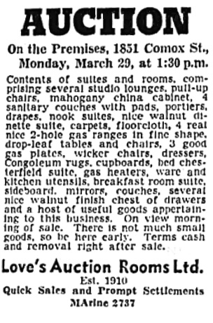 Vancouver Sun, March 27, 1943, page 22, column 7.