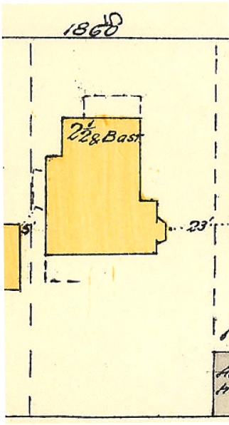 1860 Comox Street; 1913, detail from Denman Street to Comox Street to Stanley Park boundary to English Bay Reference code: 1972-582.38 – Plate 63; https://searcharchives.vancouver.ca/plate-63-denman-street-to-comox-street-to-stanley-park-boundary-to-english-bay.