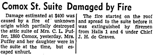 Vancouver Sun, May 20, 1943, page 2, columns 7-8.