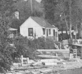 1862 Beach Avenue [tentative identification], detail from English Bay and Beach Avenue West of Chilco Street looking east; Vancouver City Archives, S-5-15.