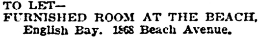 Vancouver Province, May 15, 1903, page 3, column 2.