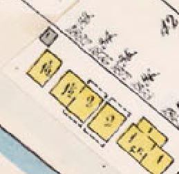 1882 Beach Avenue, 1878 Beach Avenue, 1872 Beach Avenue and 1872 Beach Avenue, detail from Insurance plan, City of Vancouver, July 1897, revised June 1903, Sheet 45, Comox Street to English Bay and Bidwell Street to Stanley Park.
