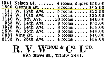 Vancouver Province, October 8, 1930, page 23, column 4.