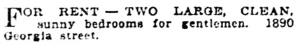 Vancouver Province, May 4, 1912, page 38, column 3.