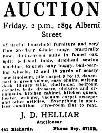 Vancouver Sun, March 22, 1918, page 13, column 6.