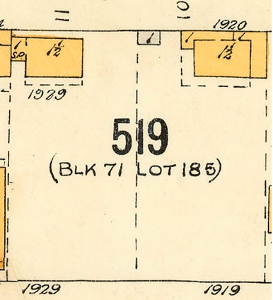 1919 Beach Avenue and 1929 Beach Avenue, 1913; detail from Denman Street to Comox Street to Stanley Park boundary to English Bay Reference code – 1972-582-38 – Plate 63.