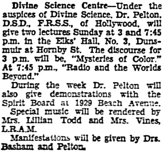 Vancouver Sun, April 13, 1935, page 22, column 5.