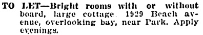 Vancouver Province, May 29, 1905, page 8, column 6.