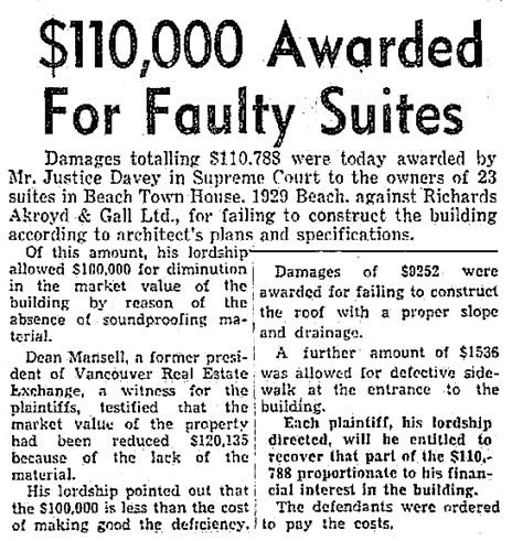 Vancouver Province, January 8, 1954, page 1, columns 5-6.