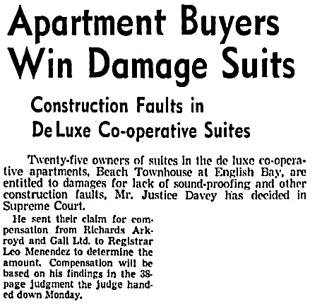 Vancouver Sun, August 6, 1953, page 39, columns 2-3 (first portion of article).