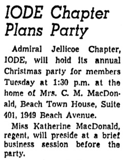 Vancouver Sun, December 12, 1960, page 24, column 8.
