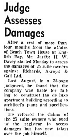 Vancouver Sun, December 22, 1953, page 9, column 4.