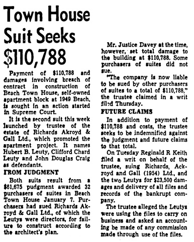Vancouver Province, August 28, 1954, page 40, column 1.