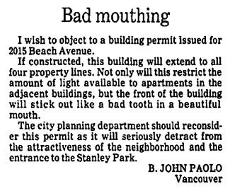 Vancouver Province, November 1, 1979, page B1, column 4.