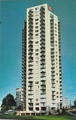 Laguna Vista Apartments, postcard; https://www.hippostcard.com/listing/street-view-of-laguna-vista-luxurious-apartment-building-vancouver-5-briti/17237086.