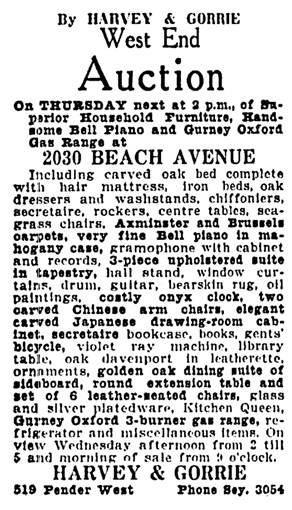 Vancouver Province, August 11, 1925, page 17, column 1; Vancouver Province, August 12, 1925, page 20, column 8.