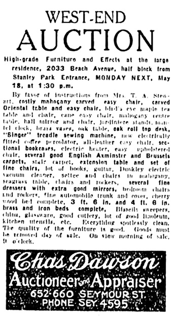 Vancouver Province, May 16, 1925, page 21, column 5.