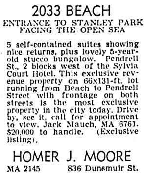 Vancouver Province, January 29, 1953, page 33, column 4.