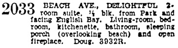 Vancouver Province, March 6, 1934, page 14, column 8.