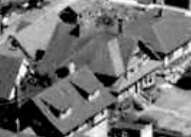 2033 Beach Avenue, with bungalow at rear, 1962; detail from West End from the air, Vancouver City Archives; Air P96; https://searcharchives.vancouver.ca/west-end-from-air.