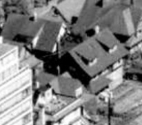 2061 Beach Avenue and 2055 Beach Avenue; 1962; detail from West End from the air, Vancouver City Archives; Air P96; https://searcharchives.vancouver.ca/west-end-from-air.