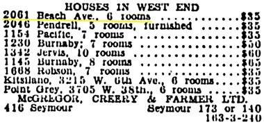 Vancouver Province, November 25, 1929, page 15, column 5.