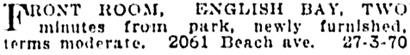 Vancouver Province, June 11, 1914, page 17, column 1.