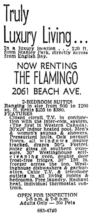 Vancouver Sun, November 15, 1968, page 47, column 1.