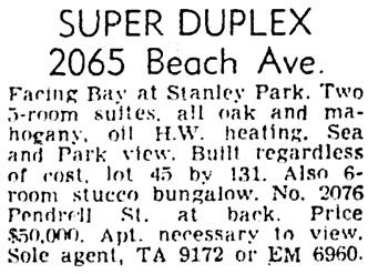Vancouver Province, April 16, 1955, page 36, column 8.