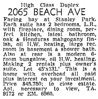 Vancouver Sun, February 11, 1956, page 44, column 6.