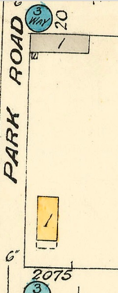 2075 Beach Avenue; 1913, detail from Denman Street to Comox Street to Stanley Park boundary to English Bay Reference code: 1972-582.38 – Plate 63; https://searcharchives.vancouver.ca/plate-63-denman-street-to-comox-street-to-stanley-park-boundary-to-english-bay.