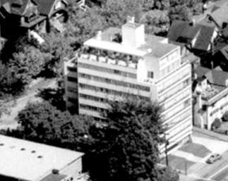 2095 Beach Avenue; 1962; detail from West End from the air, Vancouver City Archives; Air P96; https://searcharchives.vancouver.ca/west-end-from-air.