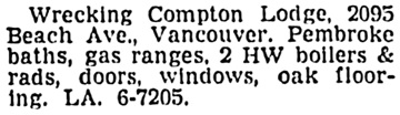 Vancouver Sun, March 3, 1958, page 30, column 1.