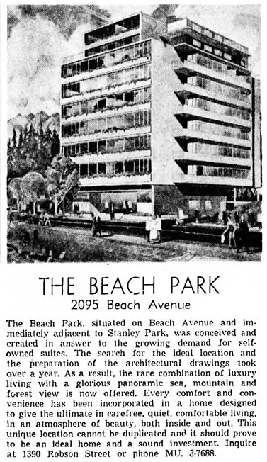 Vancouver Province, October 17, 1958, page 43, columns 1-2.