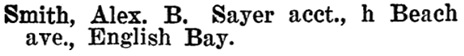 Henderson's BC Gazetteer and Directory, 1901, page 778.