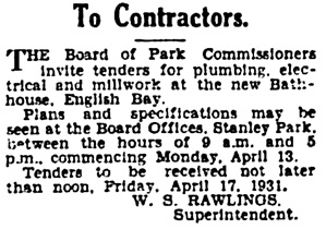 Vancouver Province, April 10, 1931, page 25, column 2.