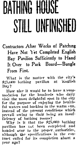 Vancouver Daily World, July 7, 1910, page 22, column 3 [first portion of article].