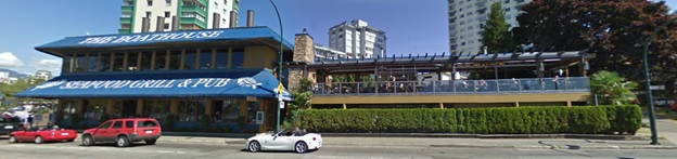 Beach Avenue, north of intersection with Burnaby Street; searched March 4, 2019; image dated August 2011.