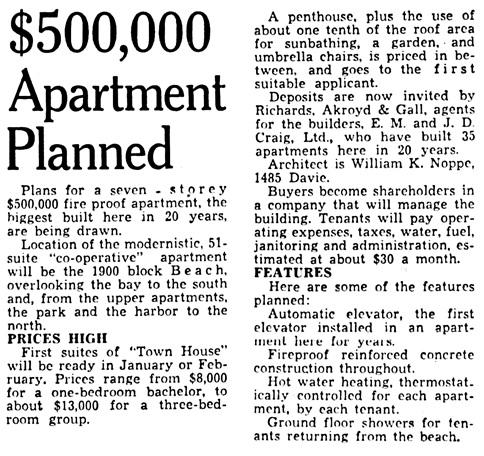 Vancouver Province, April 13, 1949, page 21, column 3.
