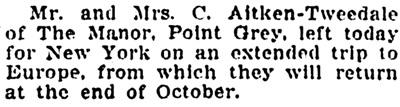 Vancouver Province, April 17, 1911, page 6, column 5.