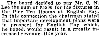 Vancouver Province, January 29, 1921, page 7, column 3.