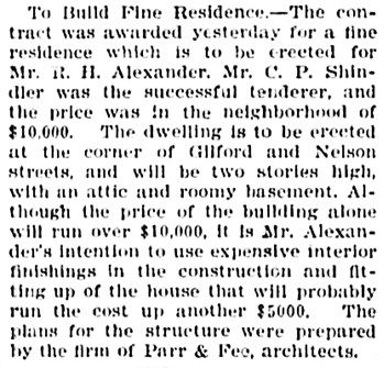 Vancouver Province, September 15, 1905, page 16, column 3.