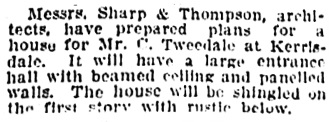 Vancouver Province, March 20, 1909, page 32, column 2.