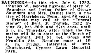 San Francisco Examiner, July 6, 1933, page 13, column 8.