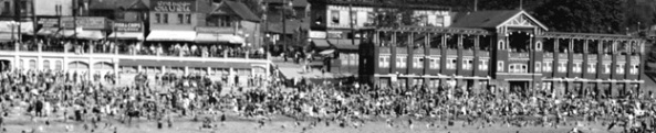 English Bay Bathhouses, August 3, 1930; detail from English Bay scene; Vancouver City Archives, CVA 99-2120; https://searcharchives.vancouver.ca/english-bay-scene-3.