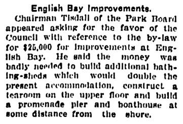 Vancouver Province, November 27, 1906, page 5, column 3.