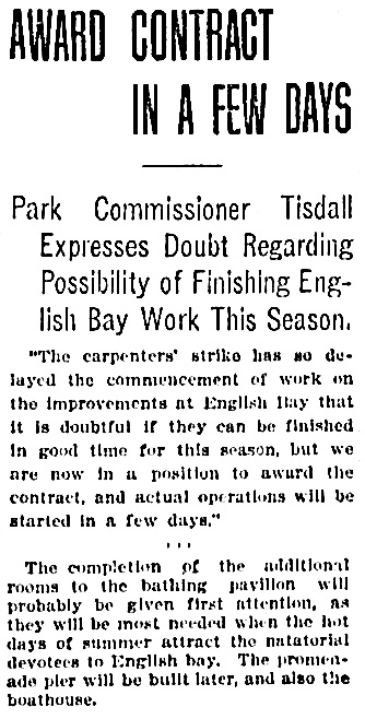 Vancouver Province, May 6, 1907, page 1, column 3 [portion of article].