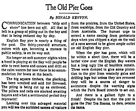 Vancouver Province, March 17, 1939, page 4, columns 4-5.